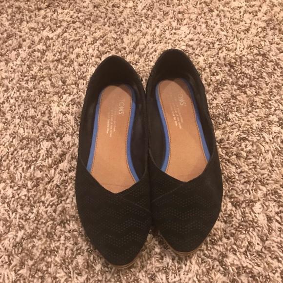 Toms Shoes | Black Suede Womens Julie